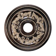 Ceiling Medallion in Hand Rubbed Bronze with Antique Silver Accents