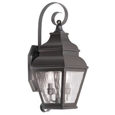 Exeter 2 Light Outdoor Wall Lantern