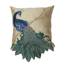 Fancy Peacock Throw Pillow