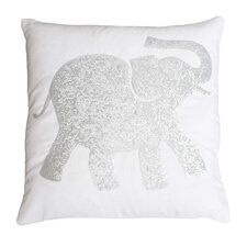 Elazar Elephant Sequined Throw Pillow