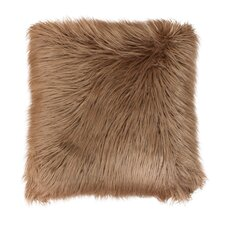 Keller Faux Mongolian Fur Throw Pillow