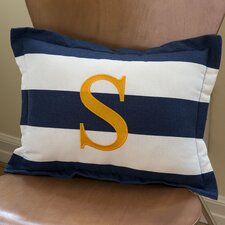 Sam Stripe Boudoir Pillow with Letter