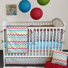 Calypso 3 Piece Crib Bedding Set