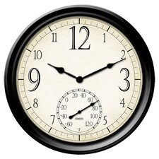 """Springfield Precision Instruments 14"""" Thermometer Wall Clock"""