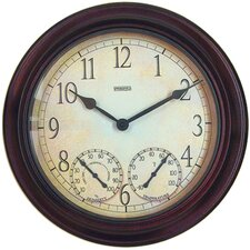 Springfield Garden Wall Clock Hygrometer