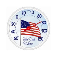 Dial USA Flag Thermometer
