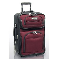 "Amsterdam 21"" Expandable Rolling Carry - On in Burgundy"