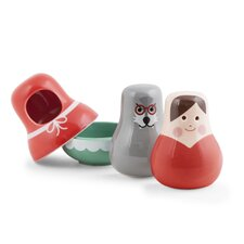 3 Piece Little Red Salt & Pepper Shaker Set