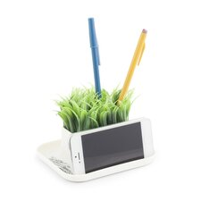 Potted Grass Pen and Phone Stand
