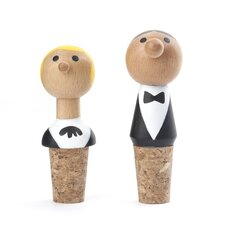 2 Piece At Your Service Bottle Stopper Set