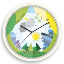 "Bike The World 8"" Wall Clock"