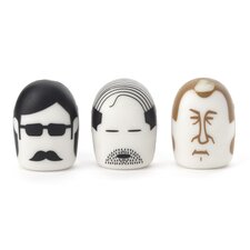 Heads Erasers (Set of 3)