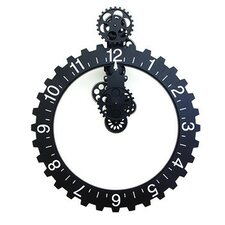 Oversized Big Wheel Hour Wall Clock