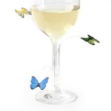 12 Piece Butterfly Drink Marker Set (Set of 12)