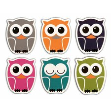 Owl Rubber Magnets (Set of 24)