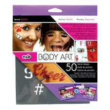 Body Art 25-Pieces Sport Stencil