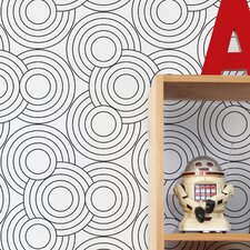 "Diorama Crop Circles 15' x 21"" Geometric Wallpaper (Set of 2)"