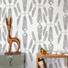 "Diorama Indian Summer 15' x 28"" Abstract Wallpaper (Set of 2)"