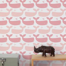 Diorama 15' x 28'' Whales Wallpaper (Set of 2)