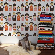 Kiki 15' x 28'' Figural Wallpaper (Set of 2)
