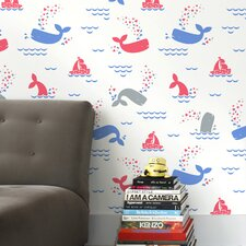 15' x 28'' Whalentine Wallpaper (Set of 2)
