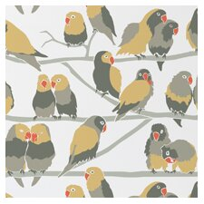 "Analog 15' x 27"" Lovebirds Wallpaper (Set of 2)"