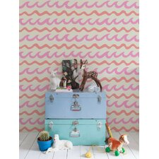 "Swell 15' x 28"" Chevron Wallpaper (Set of 2)"
