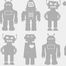 Kiki 15' x 26'' Robots Wallpaper (Set of 2)