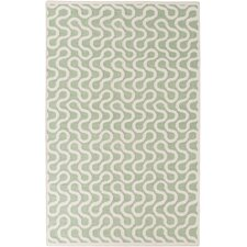 Native Sea Foam Geometric Area Rug