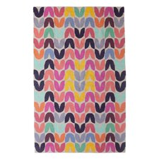 Tulip Hand-Woven Pink Area Rug