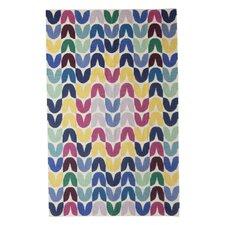 Tulip Hand-Woven Blue Area Rug