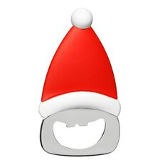 2-tlg. Flaschenöffner Santa