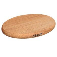 "Staub 11.4"" Oval Magnetic Wood Trivet"