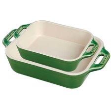 Ceramic 2 Piece Rectangular Baking Dish Set
