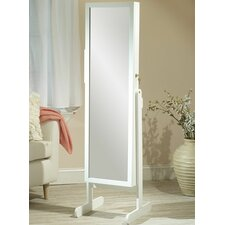 Makeup Organizational Jewelry Armoire with Mirror