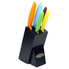 6 Piece Nonstick Knife Block Set