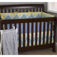 Zebra Romp 4 Piece Crib Bedding Set