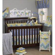 Zebra Romp 8 Piece Crib Bedding Set