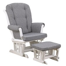Girly Houndstooth Glider with Ottoman