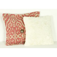Raspberry Dot  Cotton Throw Pillow (Set of 2)