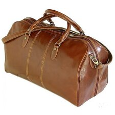 "Verona 21.26"" Italian Leather Weekender Duffel"