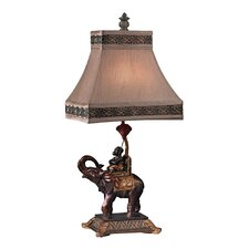 "Monkey on Elephant Accent 23.5"" H Table Lamp with Empire Shade"