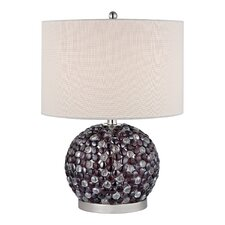 """Bejewelled 20"""" H Table Lamp with Drum Shade"""