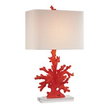 "Coral 28"" H Table Lamp with Square Shade"