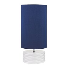 """17.5"""" H Table Lamp with Drum Shade"""