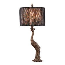 """Peacock 27"""" H Table Lamp with Drum Shade"""