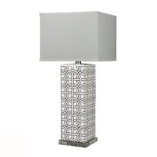 "HGTV Home Voyage 31"" H Rectangular Table Lamp with Rectangular Shade"
