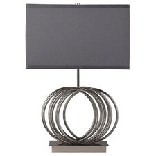 "Ekersall 22"" H Table Lamp with Rectangular Shade"