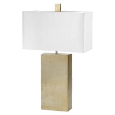 "Cement Tower 31"" Table Lamp with Rectangular Shade"