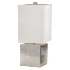 "Cement Cube 24"" Table Lamp with Rectangular Shade"
